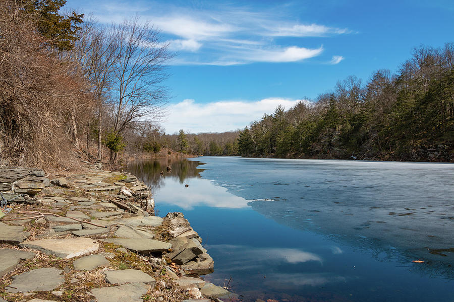 Hudson Valley Photograph - March Morning At Sanctuary Pond by Jeff Severson