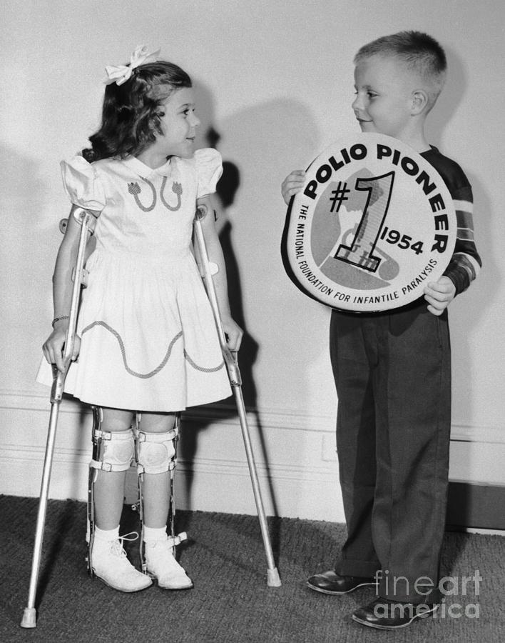 March Of Dimes Poster Children Mary Photograph by Bettmann