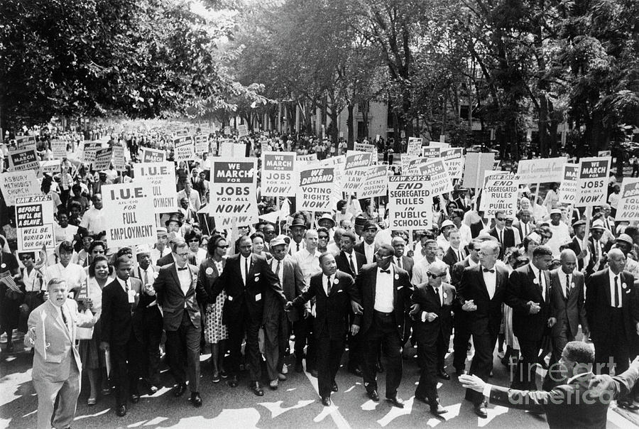 March On Washington Photograph by Bettmann