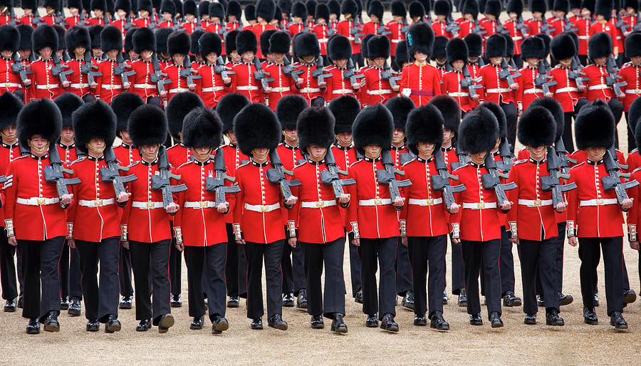 March-past, Trooping The Colour Photograph by David C Tomlinson