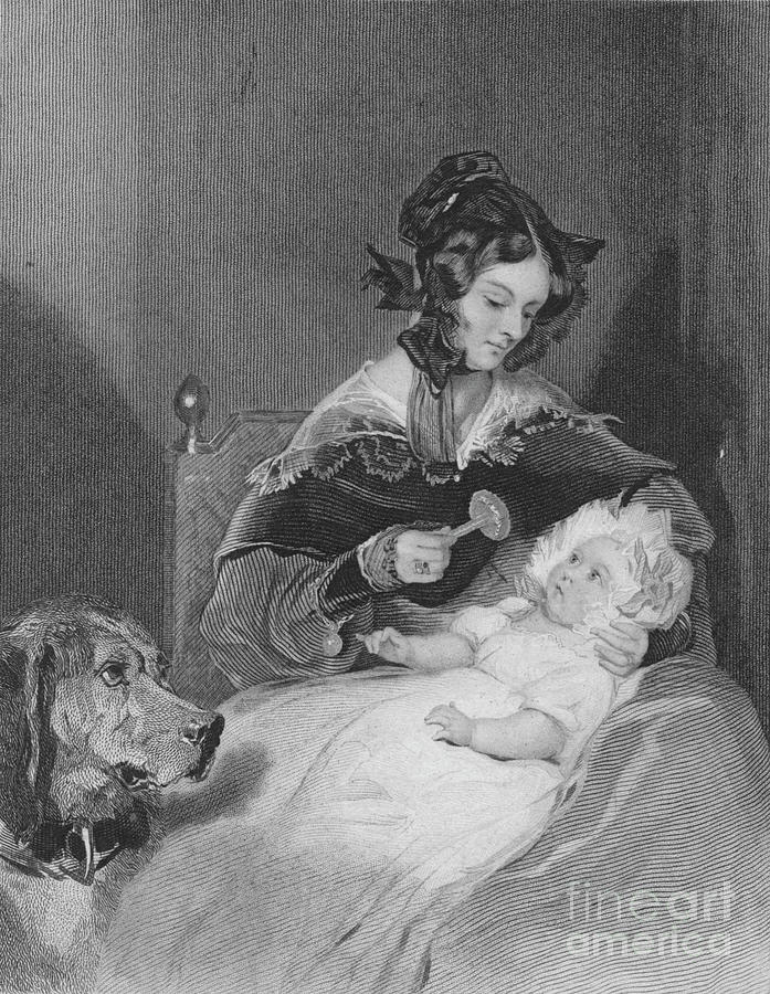 Marchioness Of Abercorn And Child, 1837 Drawing by Print Collector