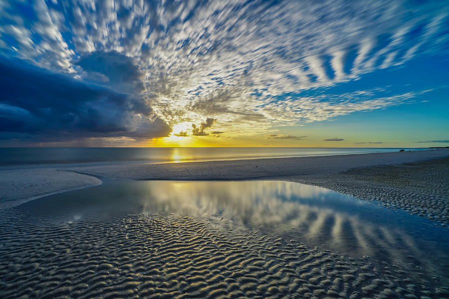 Marco Island Photograph - Marco Island Sunset reflections by Joey Waves