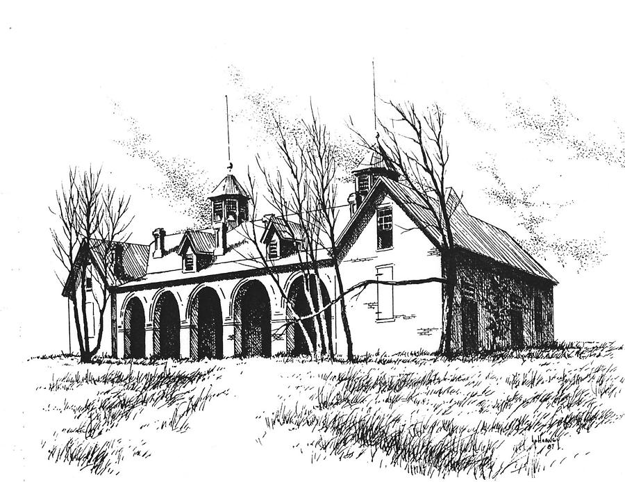 Marcus Daly Drawing - Marcus Daly Tammany Barn Hamilton Montana by Kevin Heaney