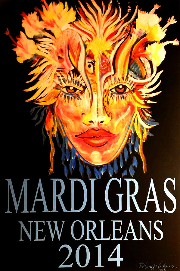 MARDI GRAS LADY by Amzie Adams