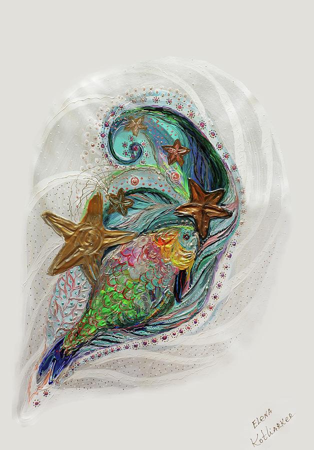 Sea Life Painting - Mare Nostrum #5 by Elena Kotliarker