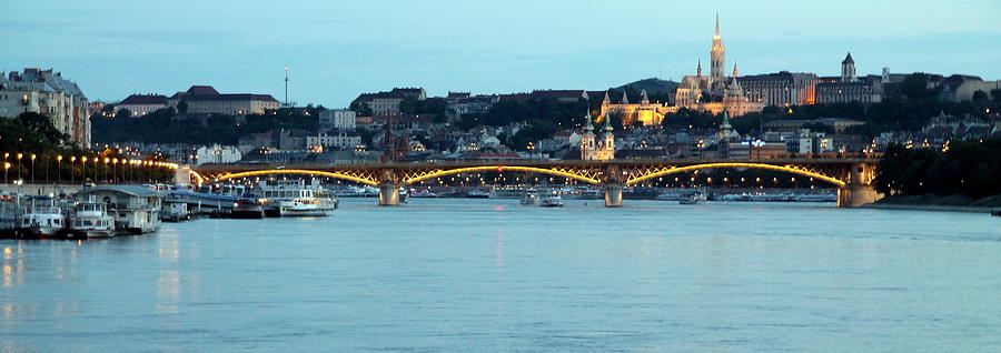 Margaret Bridge in Evening Light by Laurel Talabere