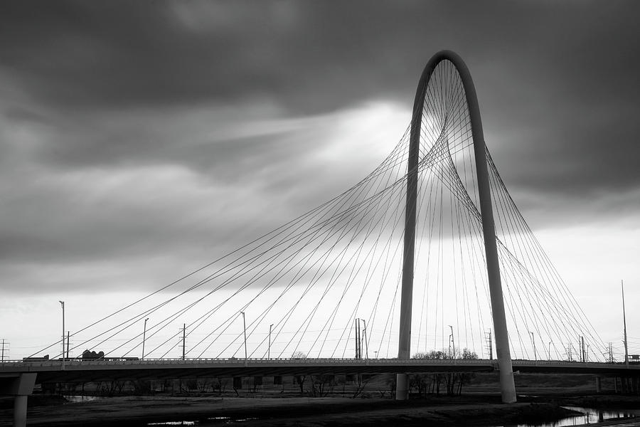 Margaret Hunt Hill Bridge in Black and White - Large Marge - Dallas Texas by Jason Politte