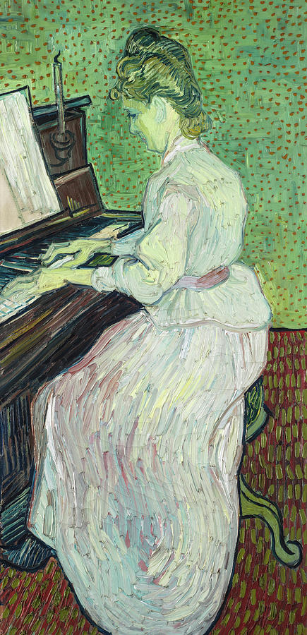 Vincent Van Gogh Painting - Marguerite Gachet At The Piano, 1890 by Vincent Willem van Gogh