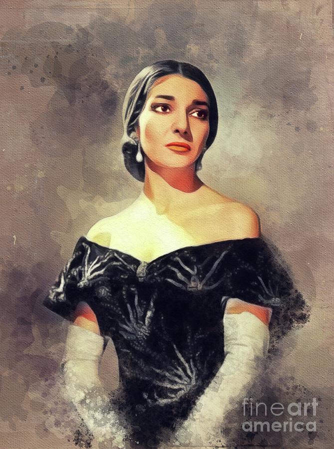 Maria Painting - Maria Callas, Music Legend by John Springfield