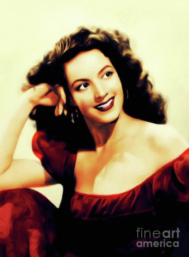 Maria Painting - Maria Felix, Vintage Actress by John Springfield