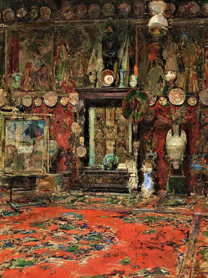 Mariano Fortuny Painting - Mariano Fortunys Studio In Rome - Digital Remastered Edition by Mariano Fortuny