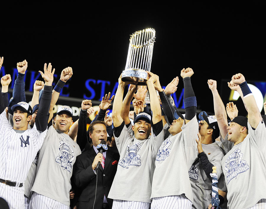 Mariano Rivera Holds Trophy As New York Photograph by New York Daily News Archive