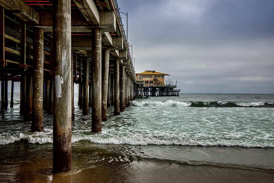 Santa Monica Pier Photograph - Mariasol On The Pier 2 by Gene Parks