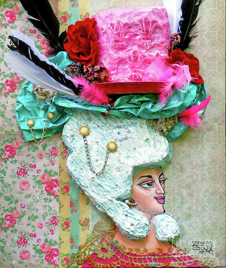 Marie Antoinette With Cake Hat by Genevieve Esson