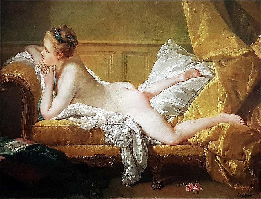 Boucher Painting - Marie Louise OMurphy by BOUCHER Francois