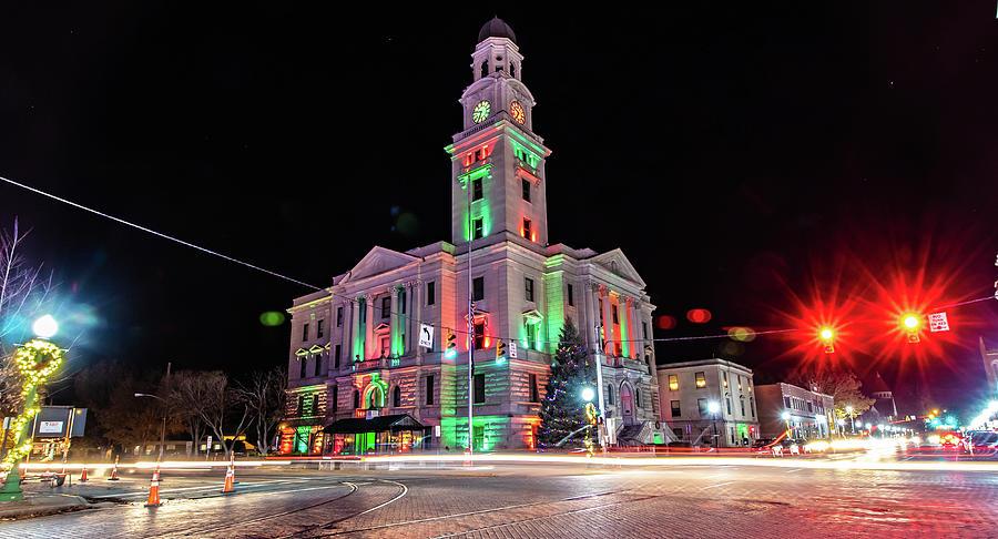 Marietta Ohio Christmas Courthouse by Jonny D