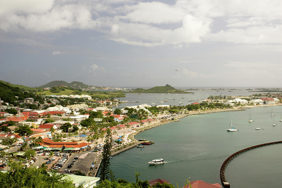 Marigot And Port From Ft. Louis, St Photograph by Caroline Warren