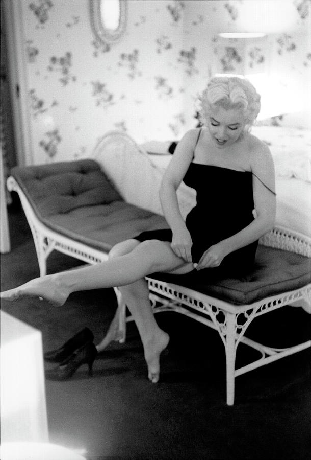Marilyn Gets Ready For A Night Out Photograph by Michael Ochs Archives
