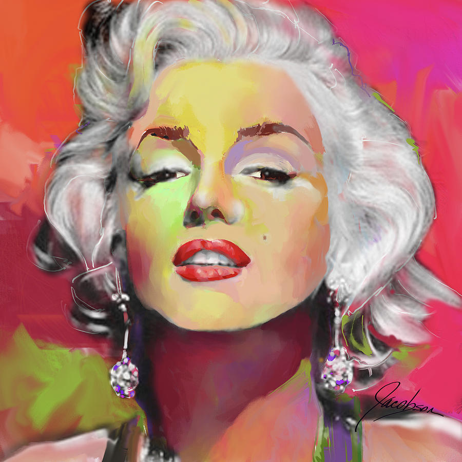 Marilyn Monroe 5 Red by Jackie Jacobson