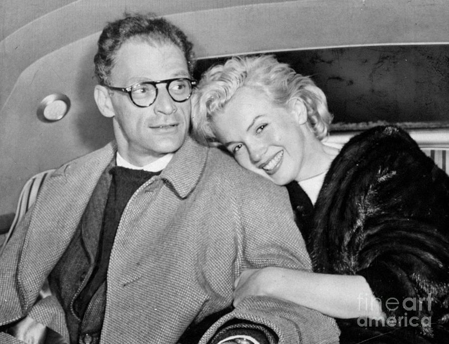 Marilyn Monroe And Husband Arthur Photograph by New York Daily News Archive