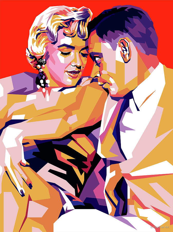Marilyn Digital Art - Marilyn Monroe and Tom Ewell by Stars on Art