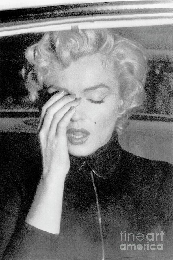 Marilyn Monroe Crying Photograph by Bettmann