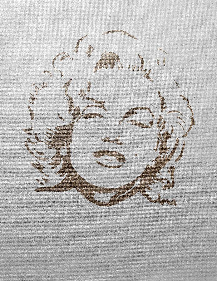 Marilyn Monroe Gold on Silver by Masha Batkova