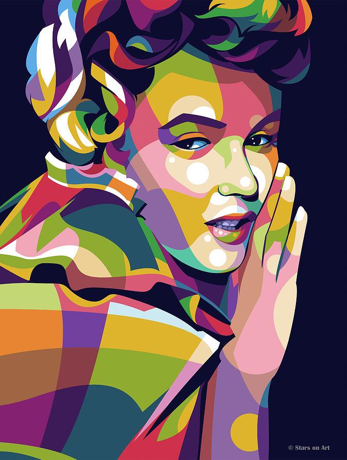 Marilyn Monroe Digital Art - Marilyn Monroe pop art by Stars on Art