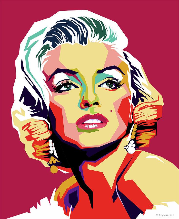 Marilyn Digital Art - Marilyn Monroe by Stars on Art