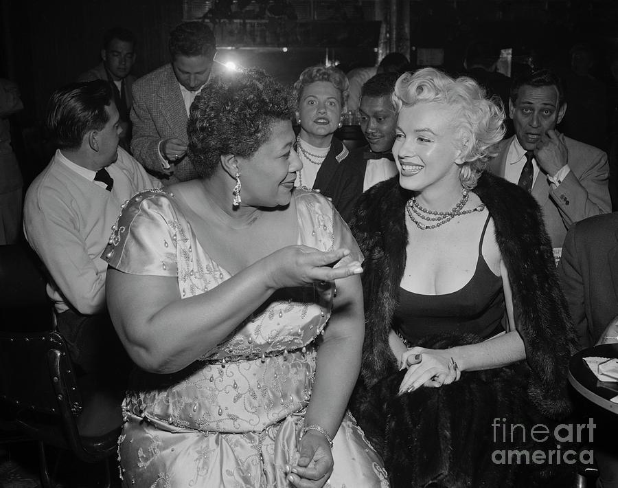 Marilyn Monroe With Ella Fitzgerald Photograph by Bettmann