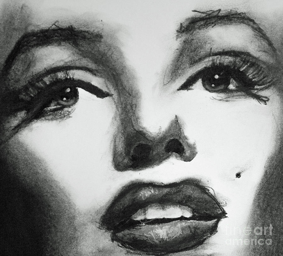 Marilyn Scribble by Michael Cross