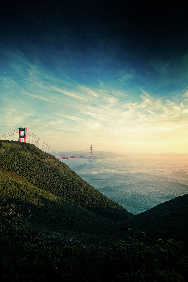 Marin Headlands And The Golden Gate Photograph by Hal Bergman Photography