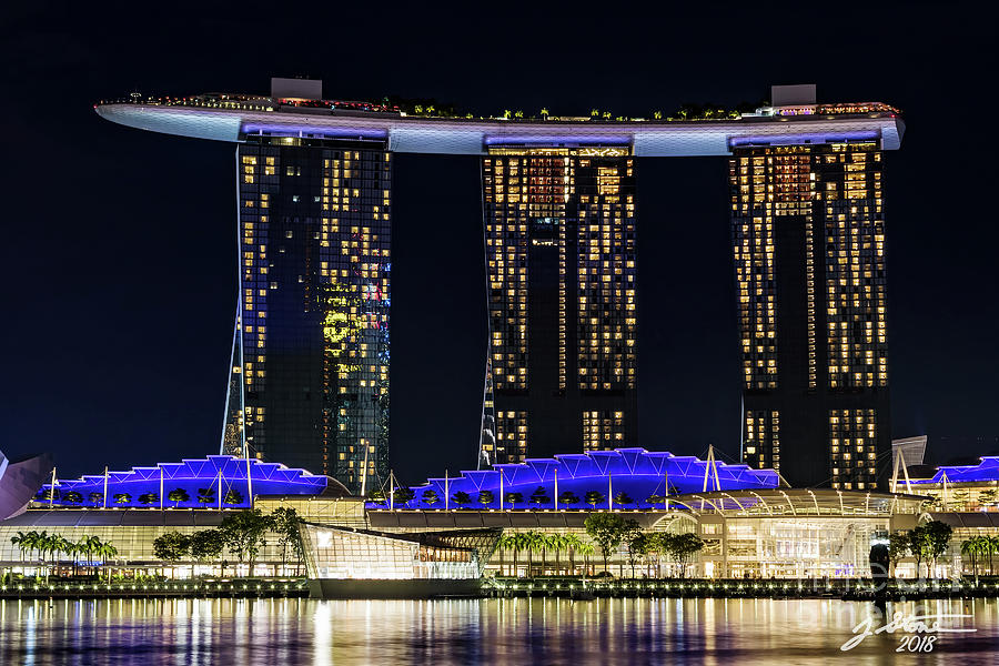 Singapore Marina Bay Sands Photograph - Marina Bay Sands by Jeffrey Stone