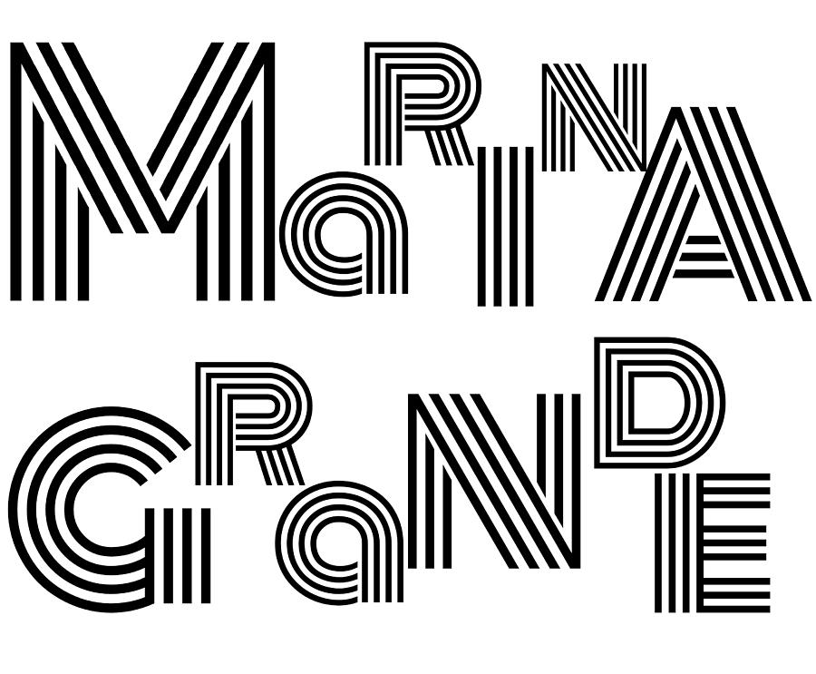 Marina Grande Wordart by Alice Gipson