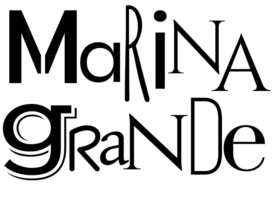 Marina Grande Wordart Two by Alice Gipson