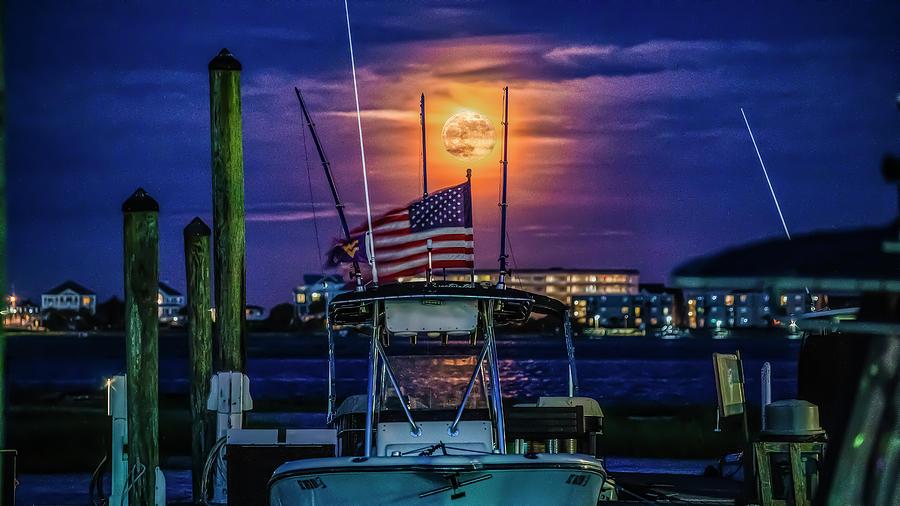 Marina Strawberry Moonrise by Robbie Bischoff