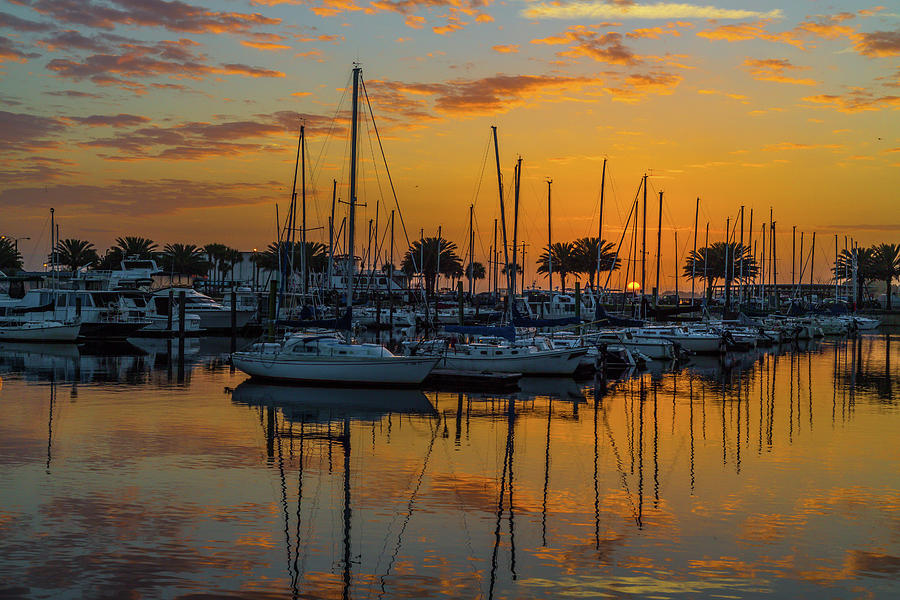 Marina Sunrise-3 by John Zawacki