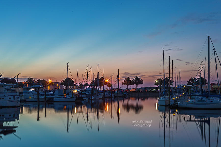 Marina Sunrise-4 by John Zawacki