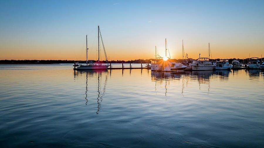 Marina Sunset by Van Sutherland