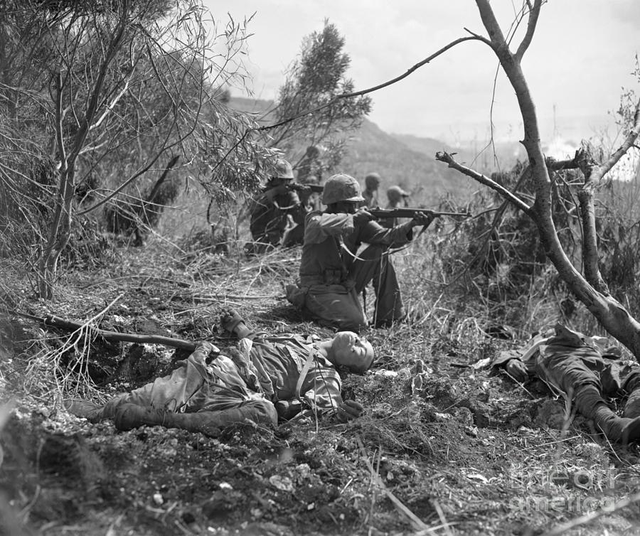Marine Fighters On Saipan Photograph by Bettmann