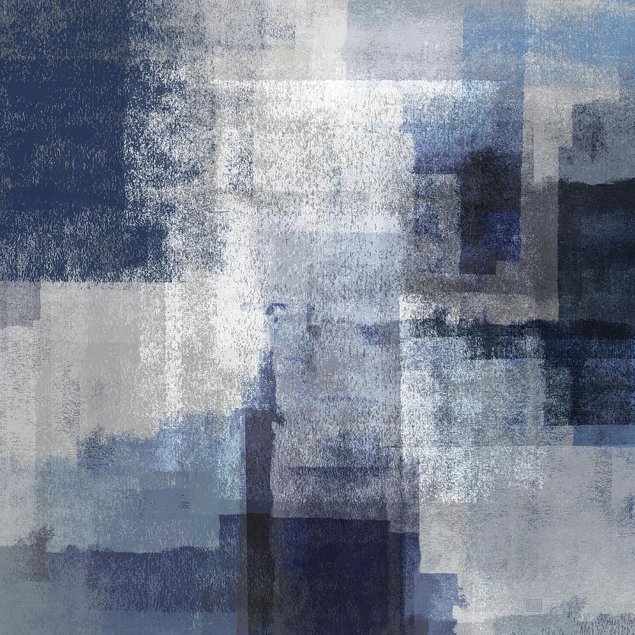 Marine on Gray Abstract by Menega Sabidussi