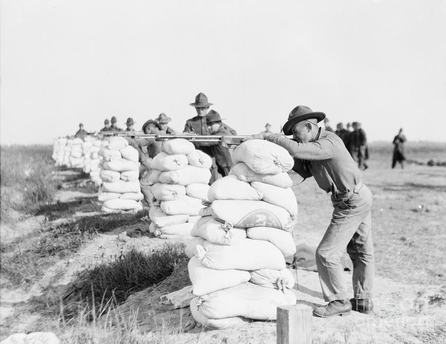 Marines Firing Browning Rifles Photograph by Bettmann
