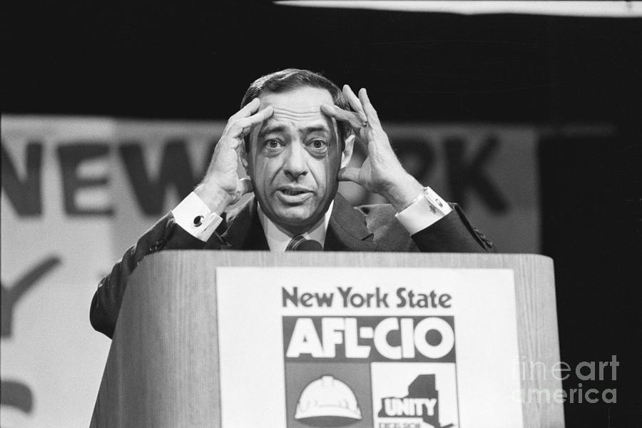 Mario Cuomo With Quizzical Expression Photograph by Bettmann