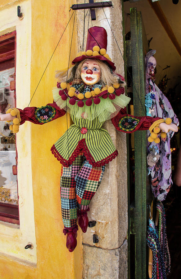 Marionette Puppet, Santorini, Greece by Venetia Featherstone-Witty