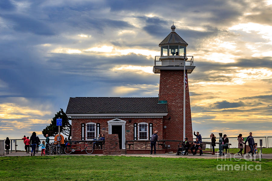 Lighthouse Photograph - Mark Abbott Memorial Lighthouse and Santa Cruz Surfing Museum by G Matthew Laughton