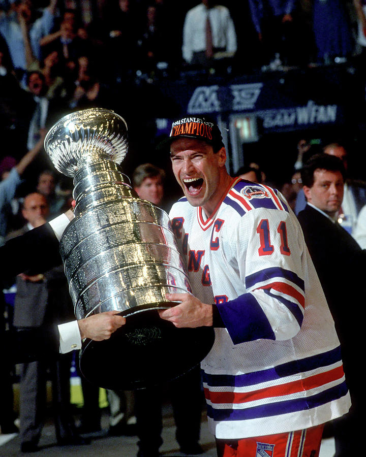 Mark Messier 1993-94 Stanley Cup Photograph by B Bennett