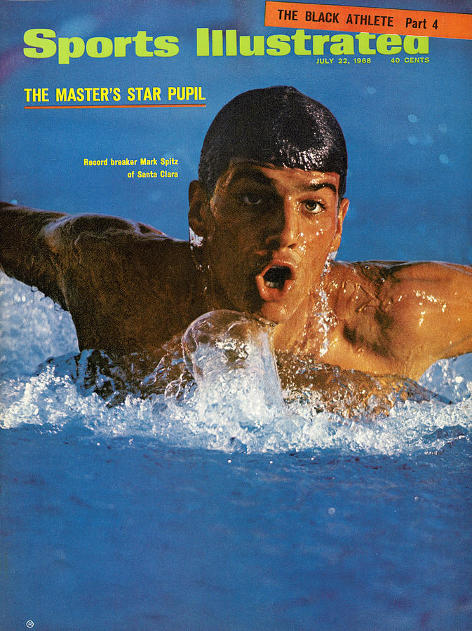 Mark Spitz, Swimming Sports Illustrated Cover Photograph by Sports Illustrated