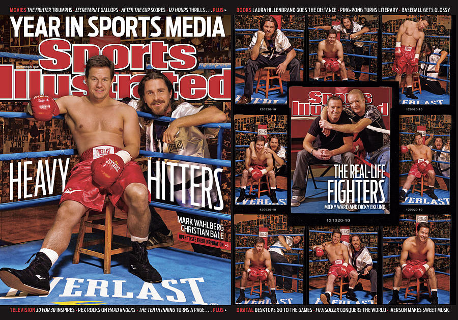 Mark Wahlberg And Christian Bale Sports Illustrated Cover Photograph by Sports Illustrated