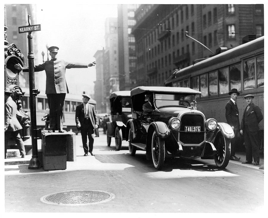 Market And Kearny Streets In San Photograph by American Stock Archive