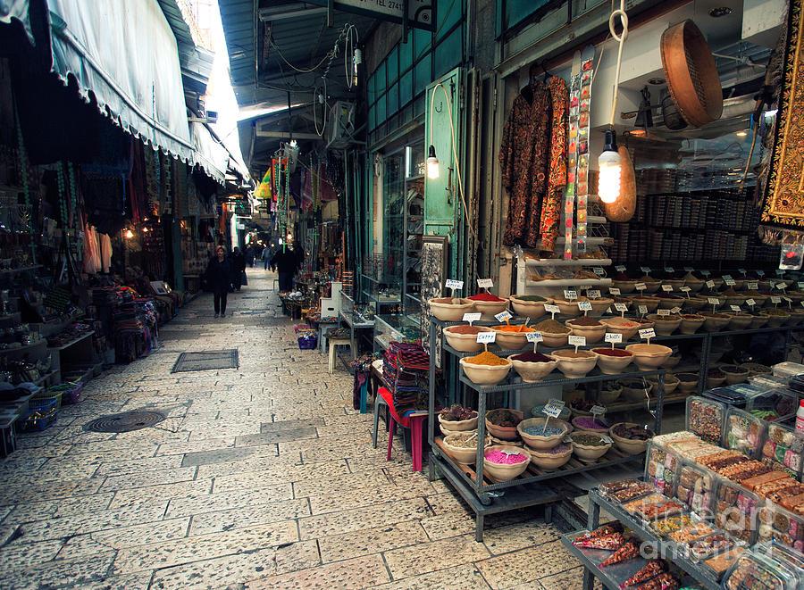 Peoples Photograph - Market In Old City Of Jerusalem by Georgy Kuryatov